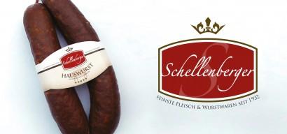 Schellenberger Logo und Hauswurst